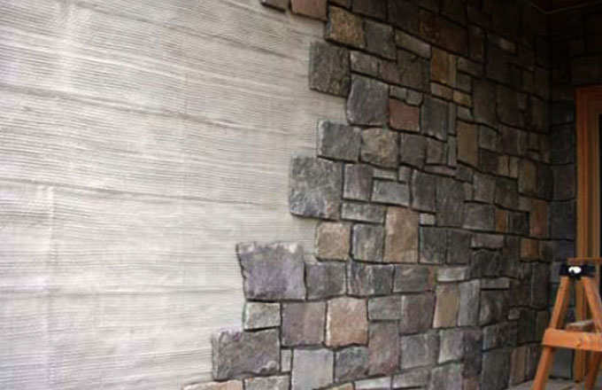 Natural stone thin veneer thin stone facade thick stone natural stone solutions - Houses natural stone facades ...
